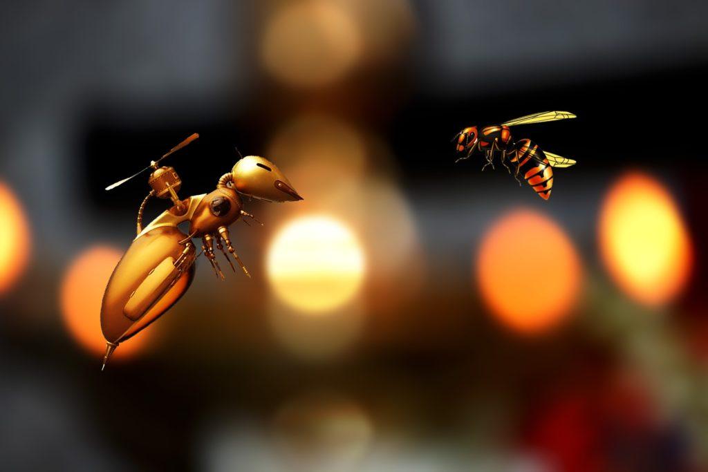 ドローンの語源は蜂の羽音